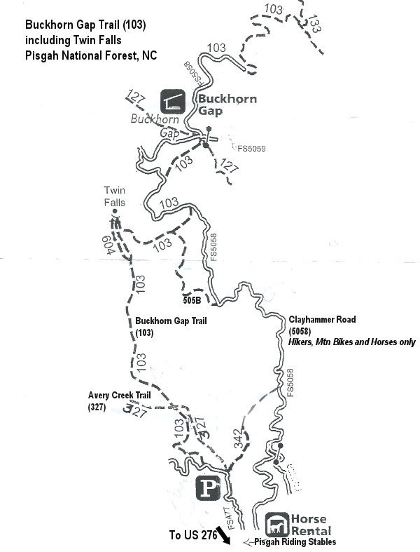 Twin Falls Hiking Map