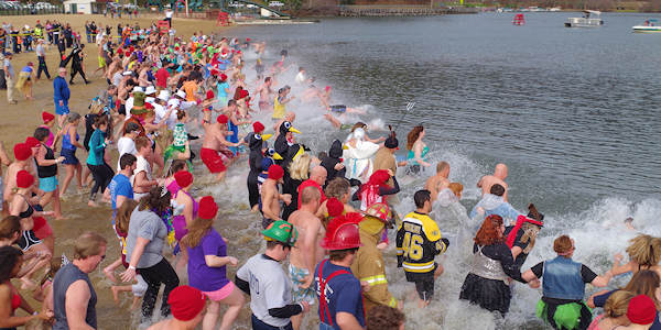 Polar Plunge at Lake Lure