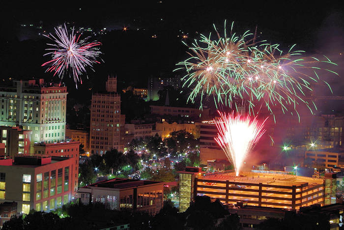 Asheville 4th of July Fireworks