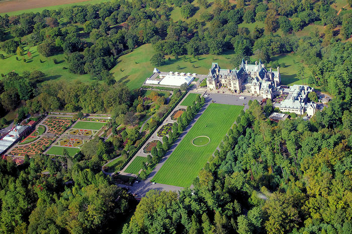 Biltmore House Gardens Aerial