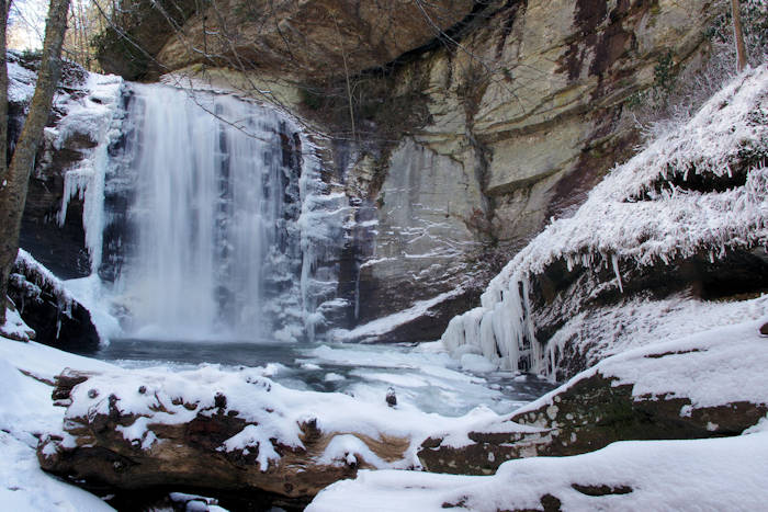 Best Winter Waterfalls Asheville Nc