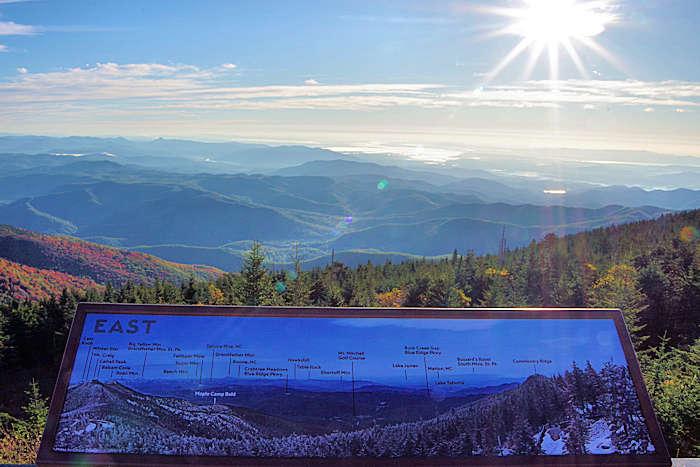 Observation Decks in NC Mountains near Asheville Mt Mitchell