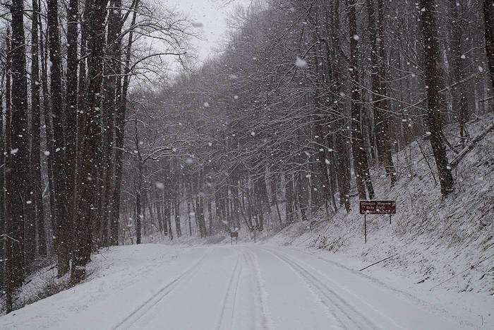 Blue Ridge Parkway Snow