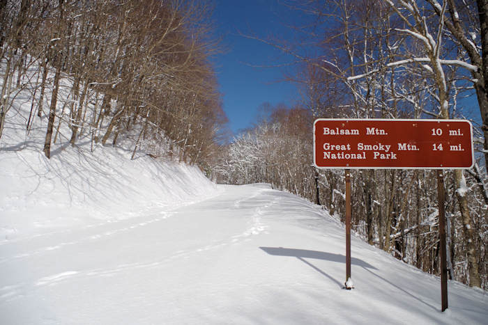 Blue Ridge Parkway in Snow