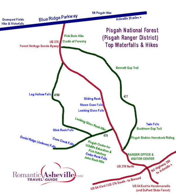 Pisgah National Forest Waterfall Tour |Pisgah National Forest Map