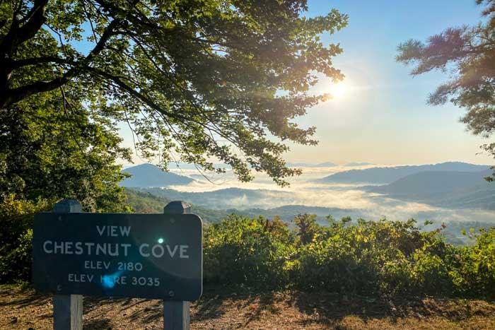 Blue Ridge Parkway Overlooks near Asheville