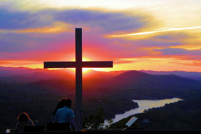 Chimney Rock Easter Sunrise