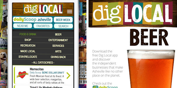 Dig Local Asheville App