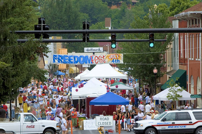 Freedom Fest July 4th, Bryson City