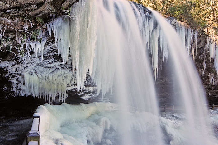 Frozen Waterfalls near Asheville, NC