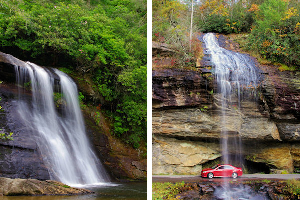 Waterfalls near Highlands and Cashiers NC