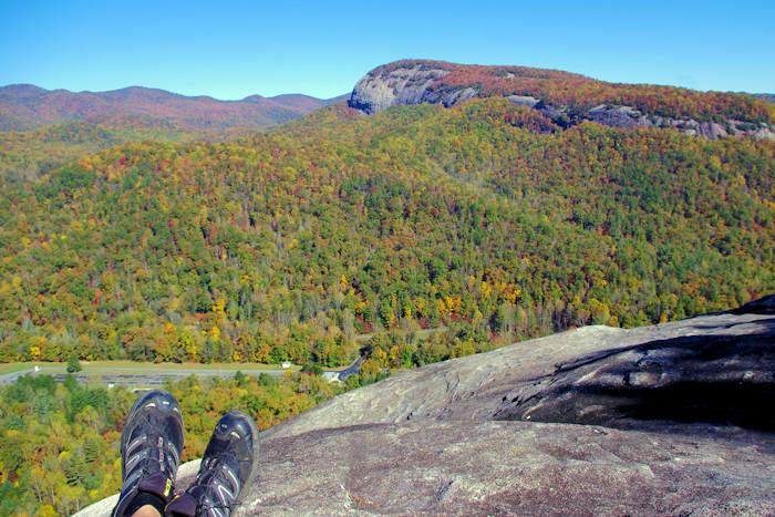 John Rock Hike, North Carolina Cat Rock Park Trail Map on