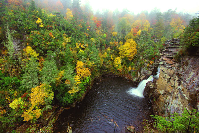 Linville Falls, Parkway Waterfall