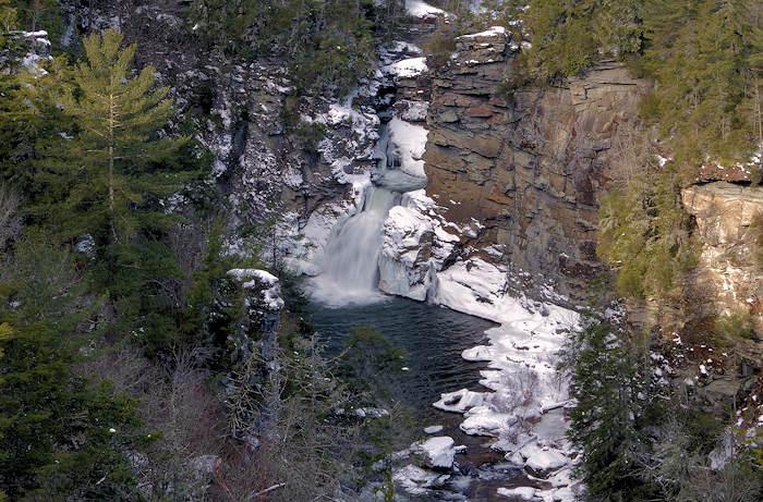 Linville Falls Snow