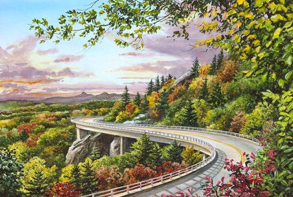 north carolina mountain art blue ridge parkway paintings