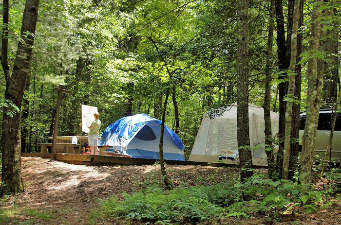 Pisgah National Forest Roadside Camping