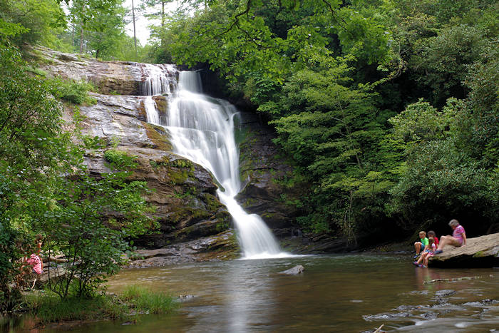 Secret falls nantahala national forest, north carolina