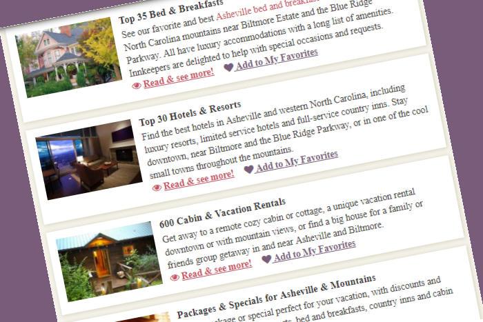 Sponsor on RomanticAsheville.com