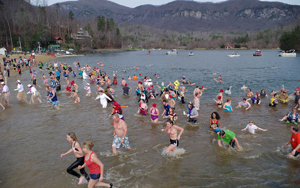 New Year's Polar Plunge Lake Lure