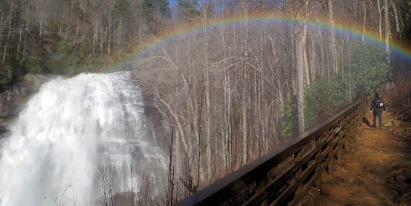Rainbow Falls, North Carolina Waterfall