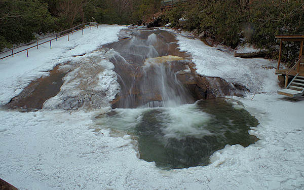 Sliding Rock NC Frozen