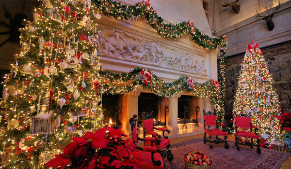 Biltmore House Christmas Fireplace