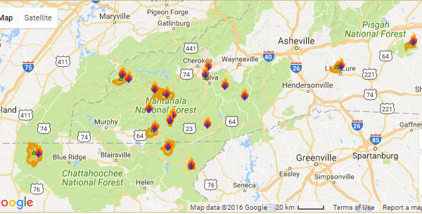 Nc Forest Fire Map