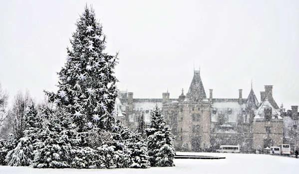 Biltmore House Christmas Snow
