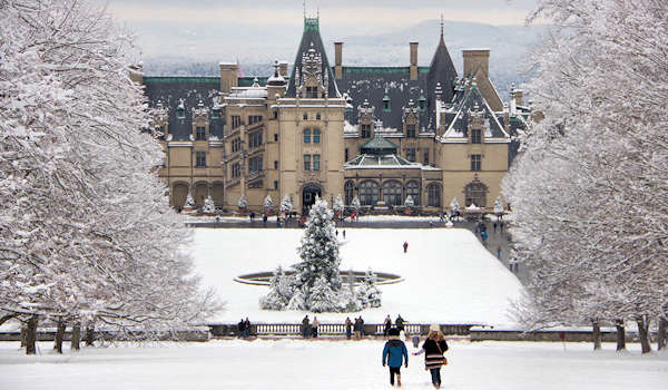 Biltmore House Snow