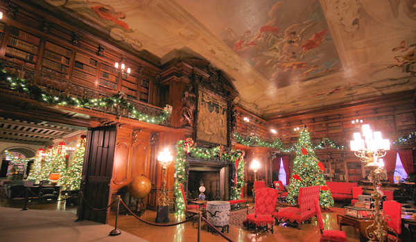 Biltmore House Christmas - Library