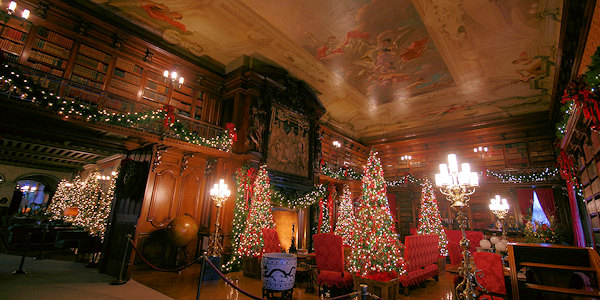 Biltmore House Christmas Library