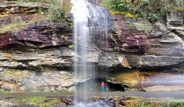 Bridal Veil Falls, Highlands NC