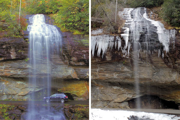 My Shadow Is One With Camera Other One >> Bridal Veil Falls, Highlands NC
