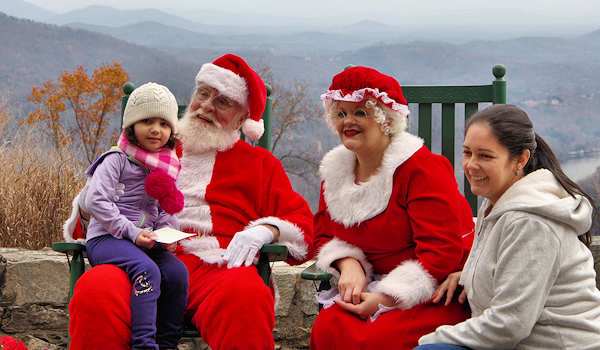 Santa & Mrs. Claus, Chimney Rock NC