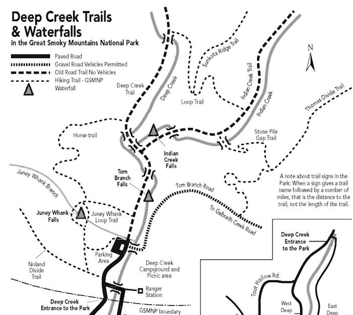 Deep Creek Hiking Trail Map