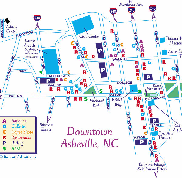 Map Of Asheville North Carolina Asheville North Carolina Maps Map Of Asheville North Carolina