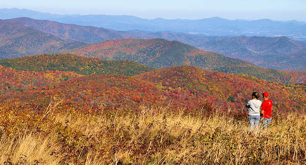 Fall Color Blue Ridge Mountains NC