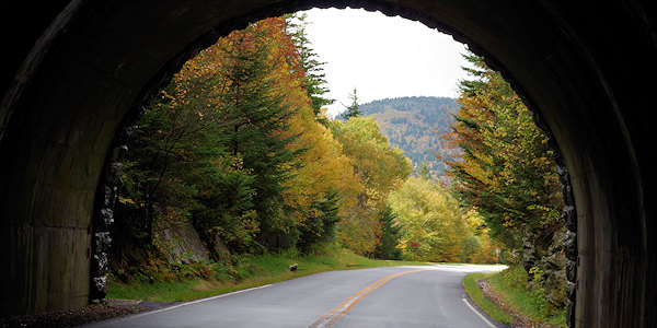 Blue Ridge Parkway Tunnel Fall Color