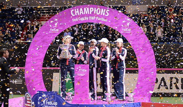 Fed Cup Tennis Champions TEAM USA
