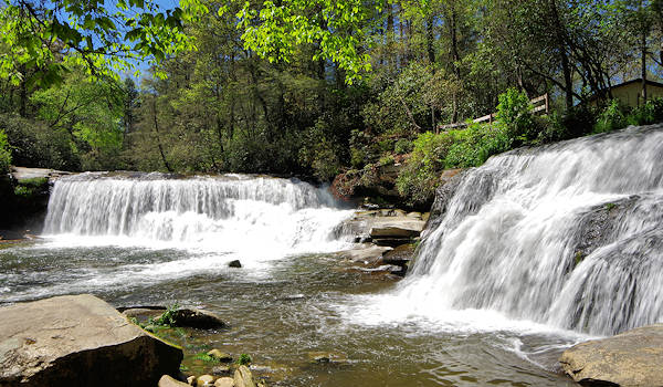 French Broad Shoal Creek Falls
