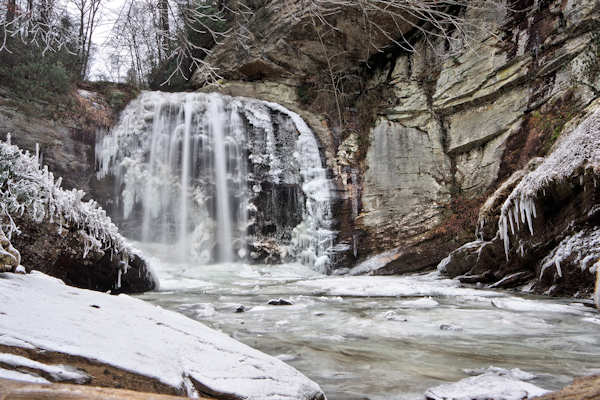 Frozen Looking Glass Falls, NC
