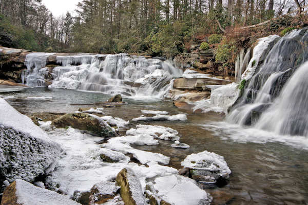 Frozen Mill Shoals Falls