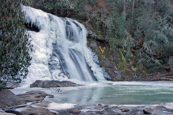 Frozen Silver Run Falls