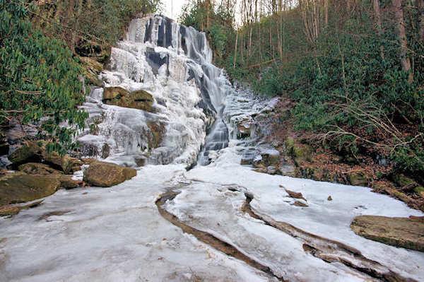 Frozen Eastatoe Falls, NC