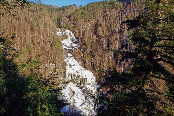 Frozen Upper Whitewater Falls