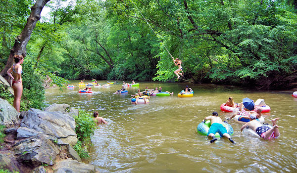 Green River Tubing near Asheville