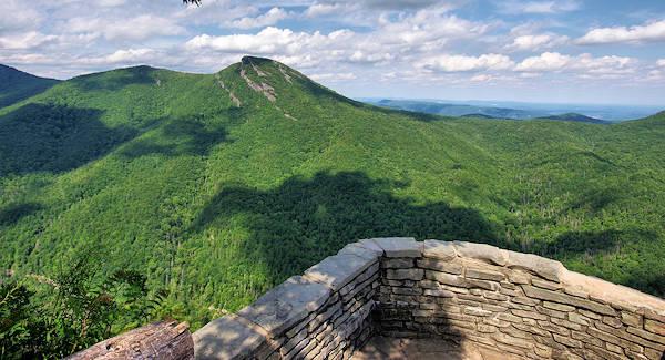 Hawksbill Mountain from Wisemans View