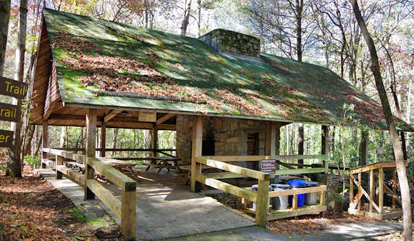 Holmes Educational State Forest, NC Picnic Shelter