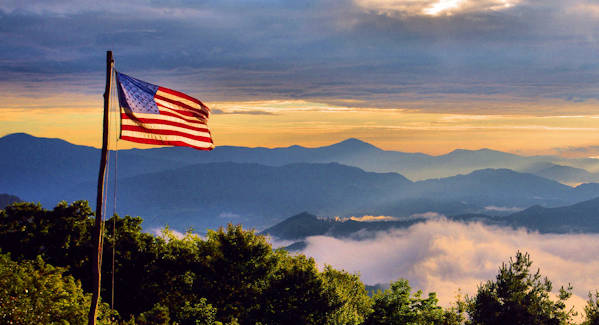 July 4th NC Mountains Flag