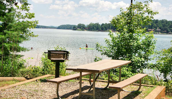 Lake James Beach Picnic